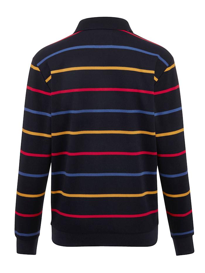 Sweatshirt mit garngefärbten Streifen