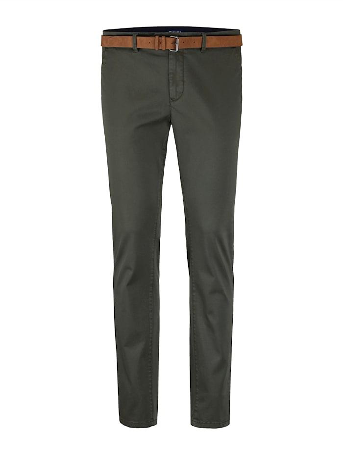 BABISTA Pantalon chino Livré avec ceinture assortie, Olive