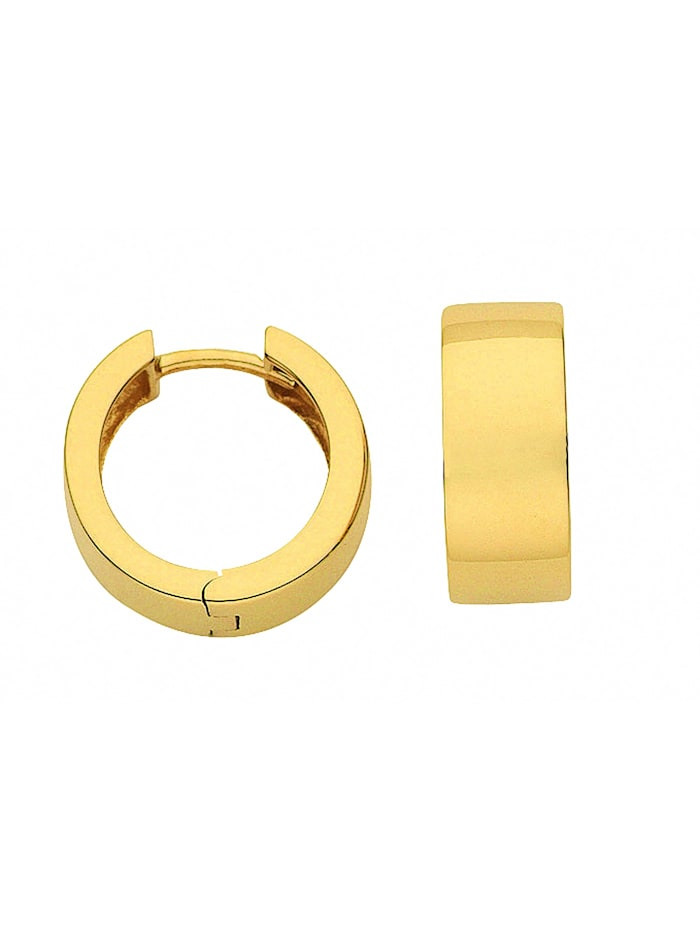 1001 Diamonds Damen Goldschmuck 333 Gold Ohrringe / Creolen Ø 15 mm, gold