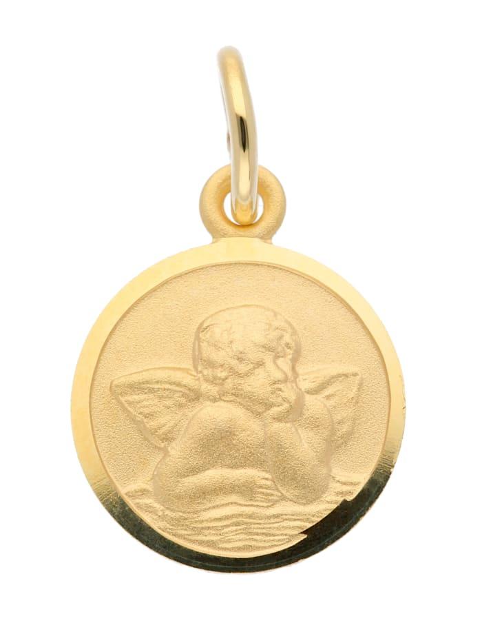 1001 Diamonds Damen Goldschmuck 585 Gold Anhänger Amor Ø 10 mm, gold