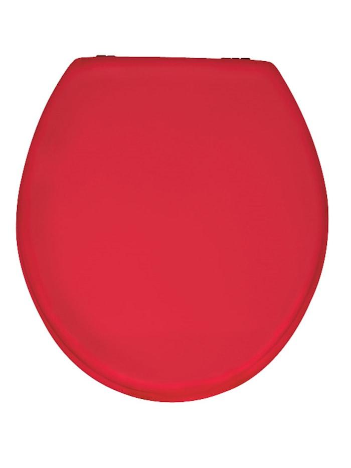 Wenko WC-Sitz Prima Rot, MDF, Rot, Befestigung: Silber matt