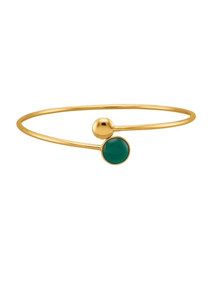 Diemer Farbstein Armspange mit Achat, Grün