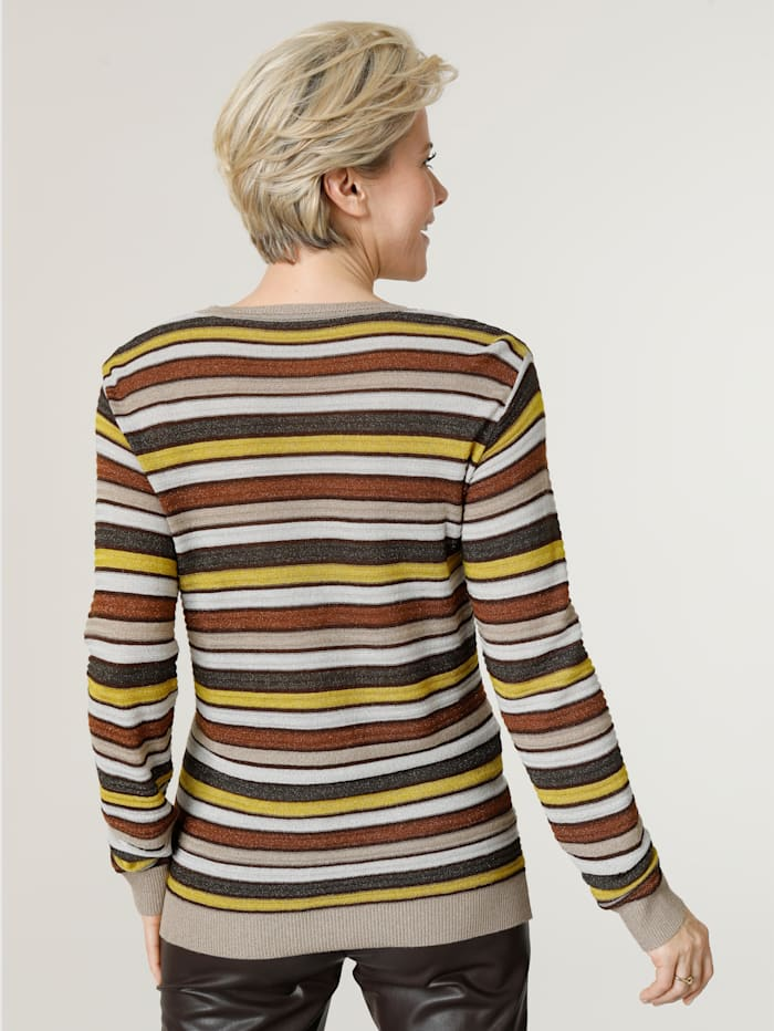 Jumper in a textured knit with shimmering thread