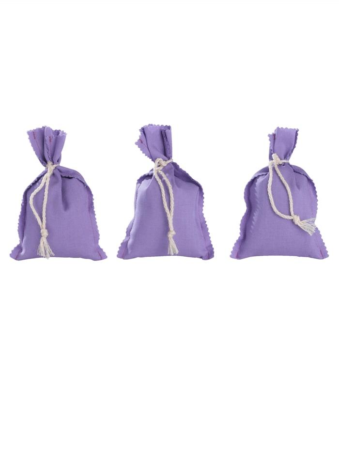 Herbalind Set van 3 lavendelzakjes, Paars