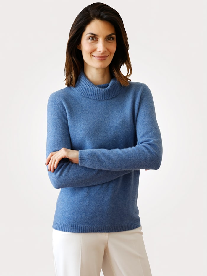 MONA Rollkragenpullover in Good-Cashmere-Qualität, Blau