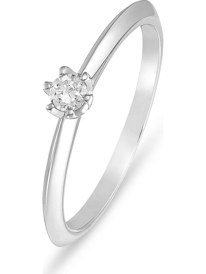 CHRIST C-Collection CHRIST Damen-Damenring 950er Platin 1 Diamant, silber