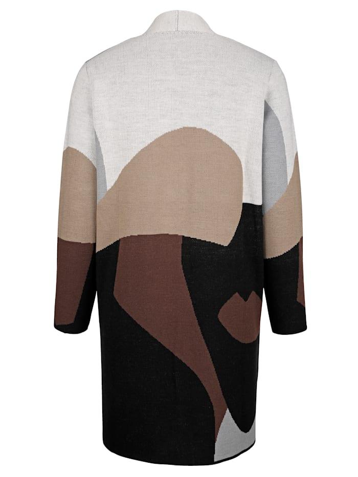 Dlhý sveter s malým stojatým golierom