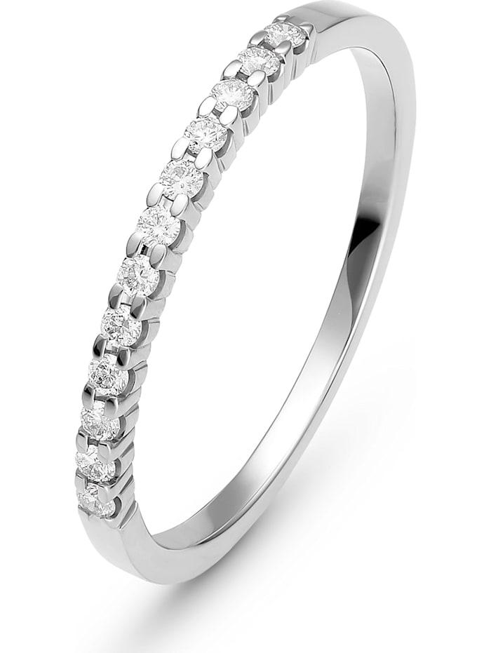 CHRIST C-Collection CHRIST Damen-Damenring 12 Diamant, weißgold