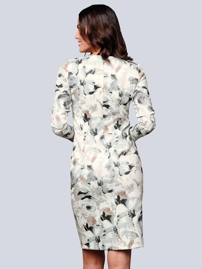 Kleid allover im farbharmonischem Blumendruck