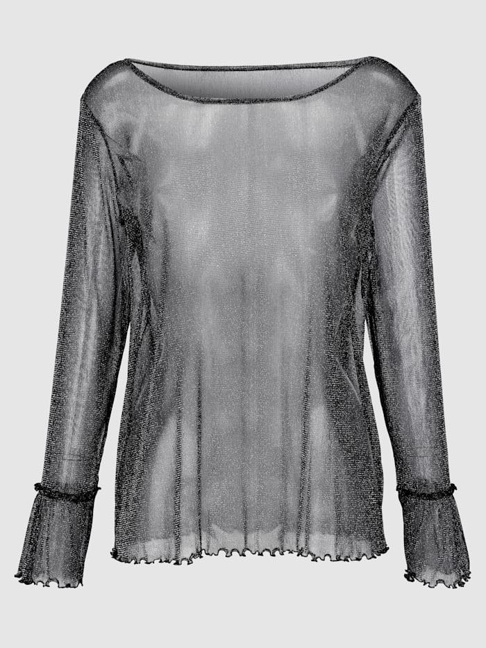 Laura Kent Volankihihallinen paita, Musta/Hopeanvärinen