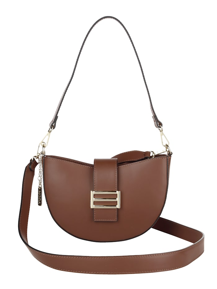 MONA Handbag in a versatile design, Brown