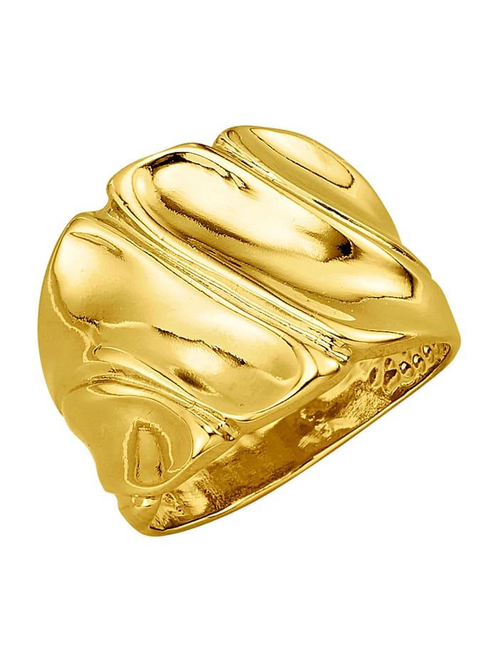 Golden Style Damenring, Gelbgoldfarben