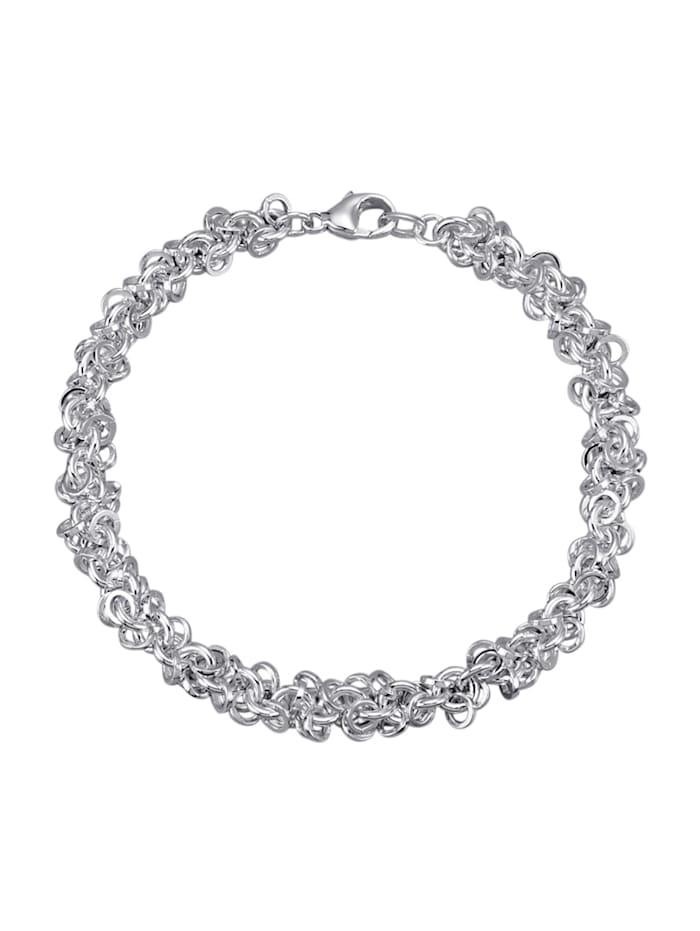 Diemer Trend Armband in massiver Ausführung, Silberfarben