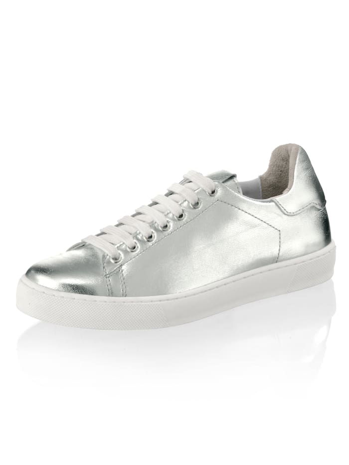 Alba Moda Sneaker in metallischer Optik, Silberfarben