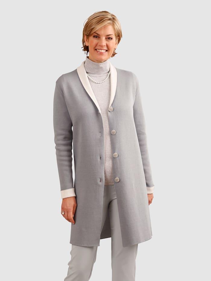 Paola Vest in doubleface-look, Grijs