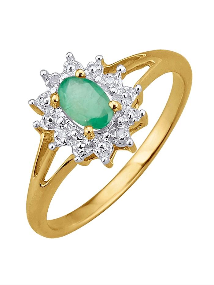 Damenring mit Smaragd, Grün