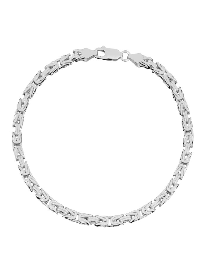 Grazielli Koningsarmband van echt zilver, Zilverkleur