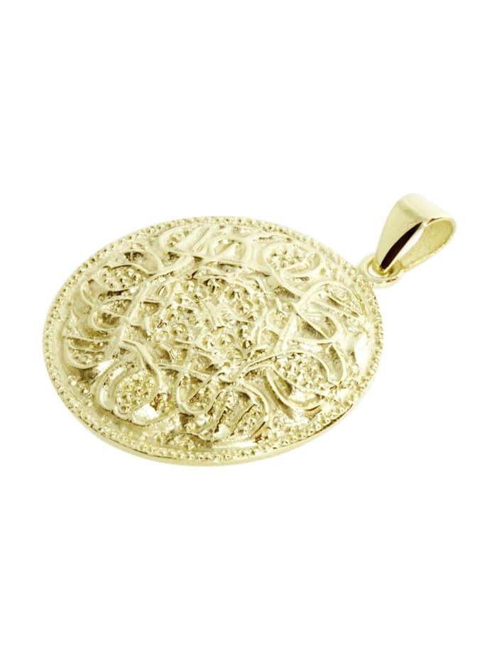 Anhänger - Hiddensee 26 mm rund - Gold 333/000 -