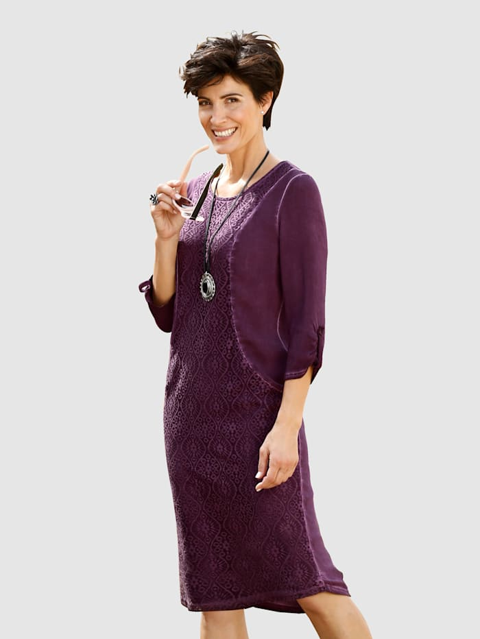 Paola Kleid in modischer oil dyed Waschung, Beere