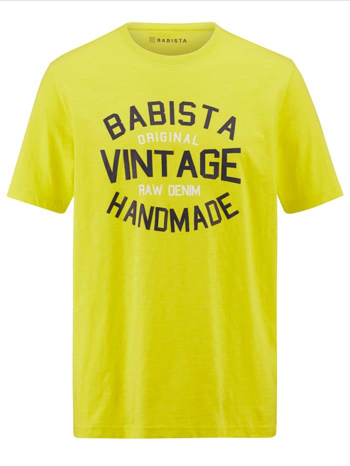 BABISTA T-shirt met print, Neongeel