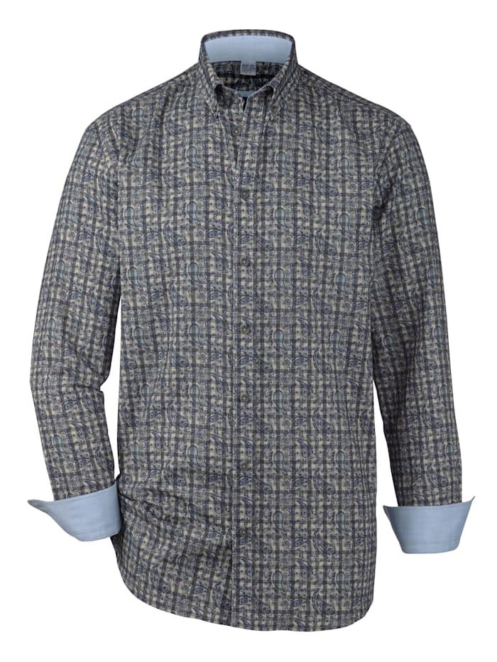 BABISTA Skjorta i mjuk flanell, Grå/Blå