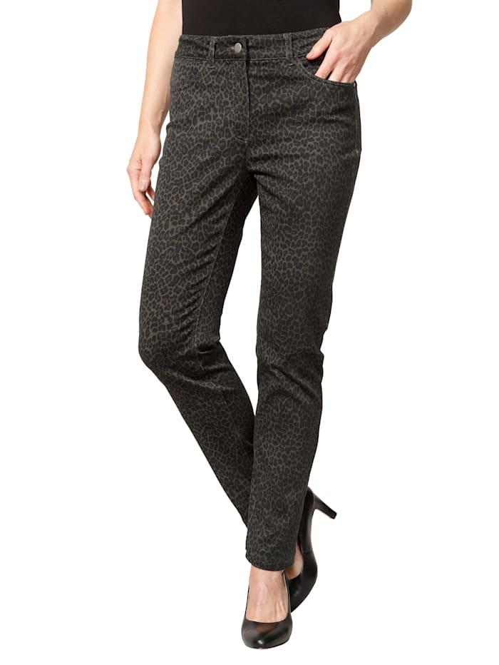 Pantalon à motif animalier tendance