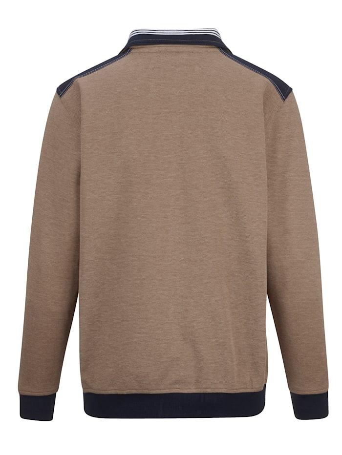 Sweatshirtjacka med kontraster