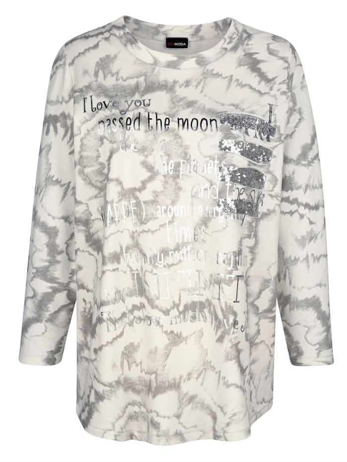 Sweatshirt mit Dekosteinen