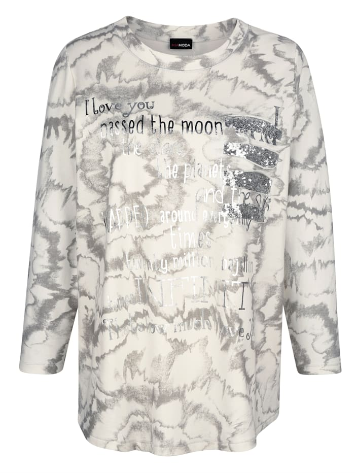 Sweatshirt met siersteentjes
