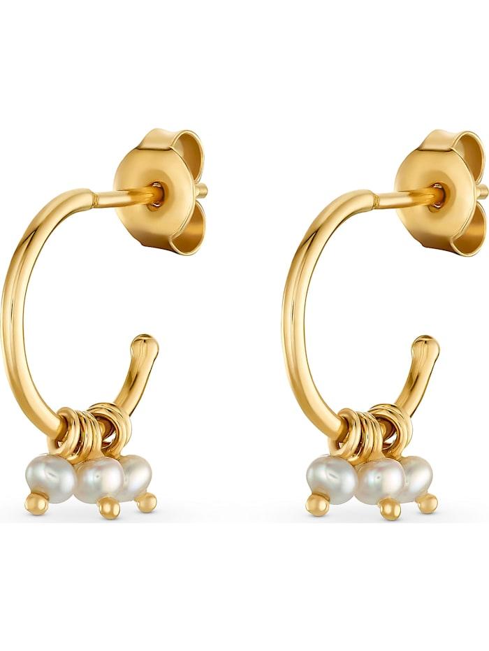 CHRIST Pearls CHRIST Pearls Damen-Creolen 375er Gelbgold, gelbgold