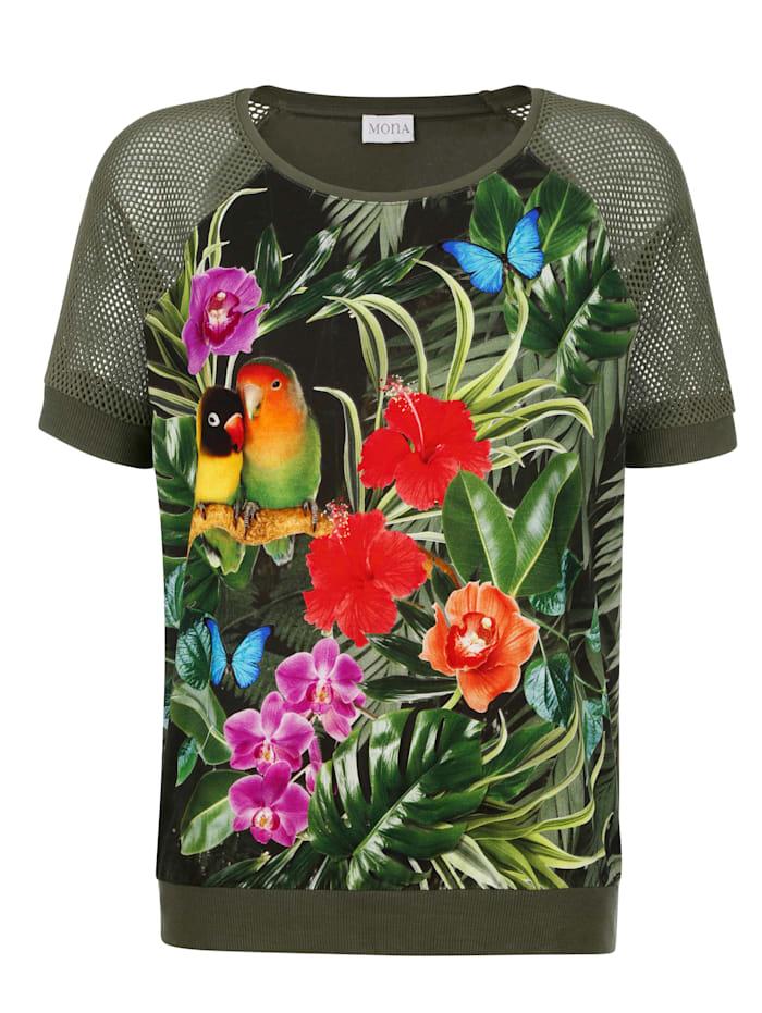 T-shirt À imprimé haut en couleurs