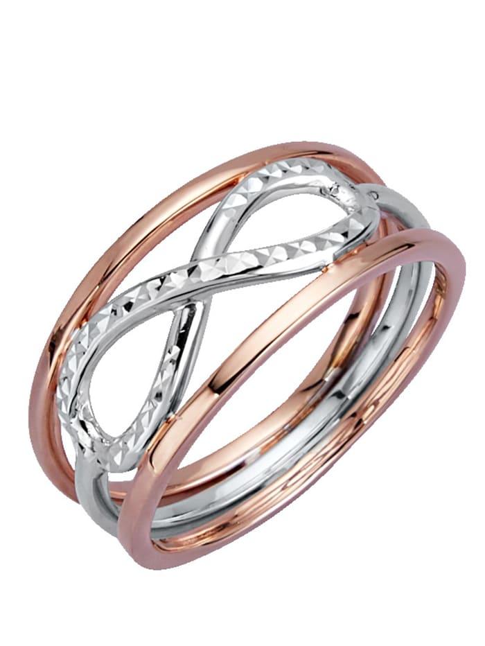 Diemer Gold Ring med evighetssymbol, Roséguldfärgad