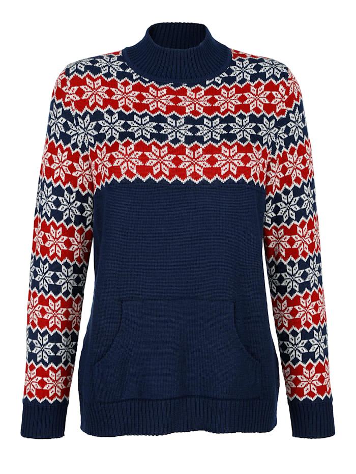 Pullover mit modischem Norwegermuster