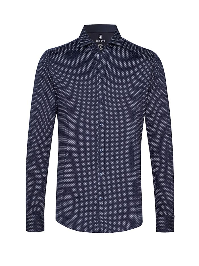 Desoto Jerseyhemd New Hai Langarm, navy white dots