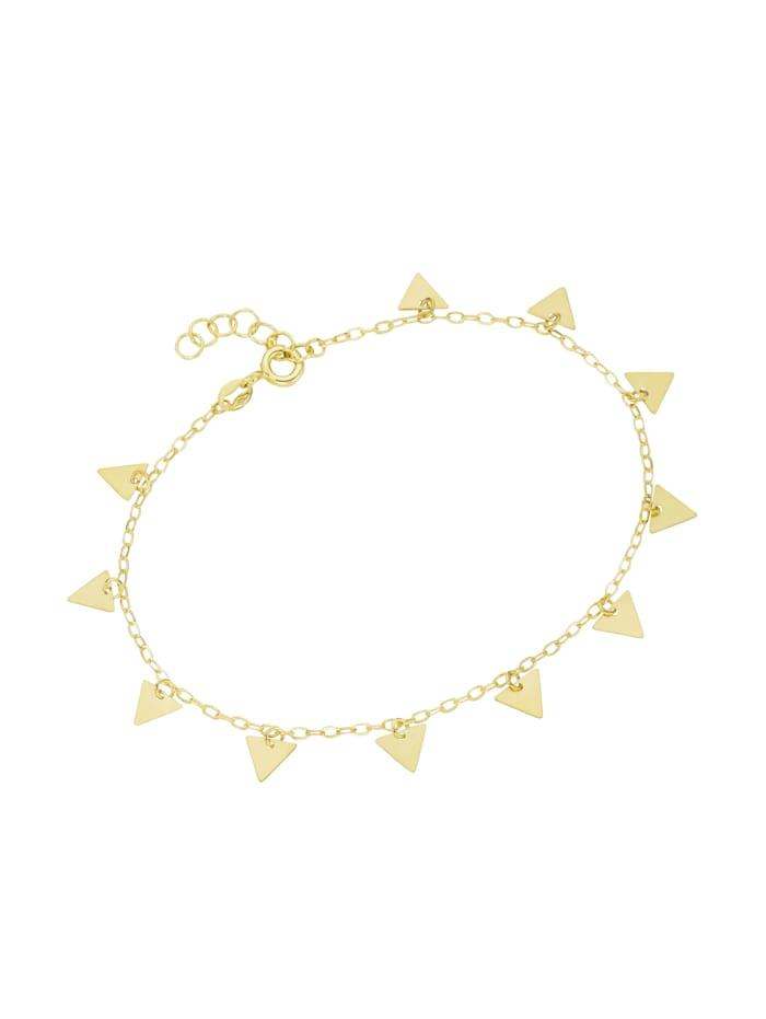 Luigi Merano Armband mit Dreieck - Anhängern, Gold 375, Gold