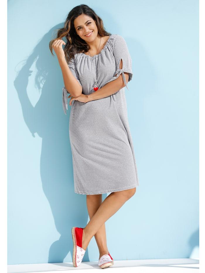 Jerseykleid mit elastischem Ausschnitt