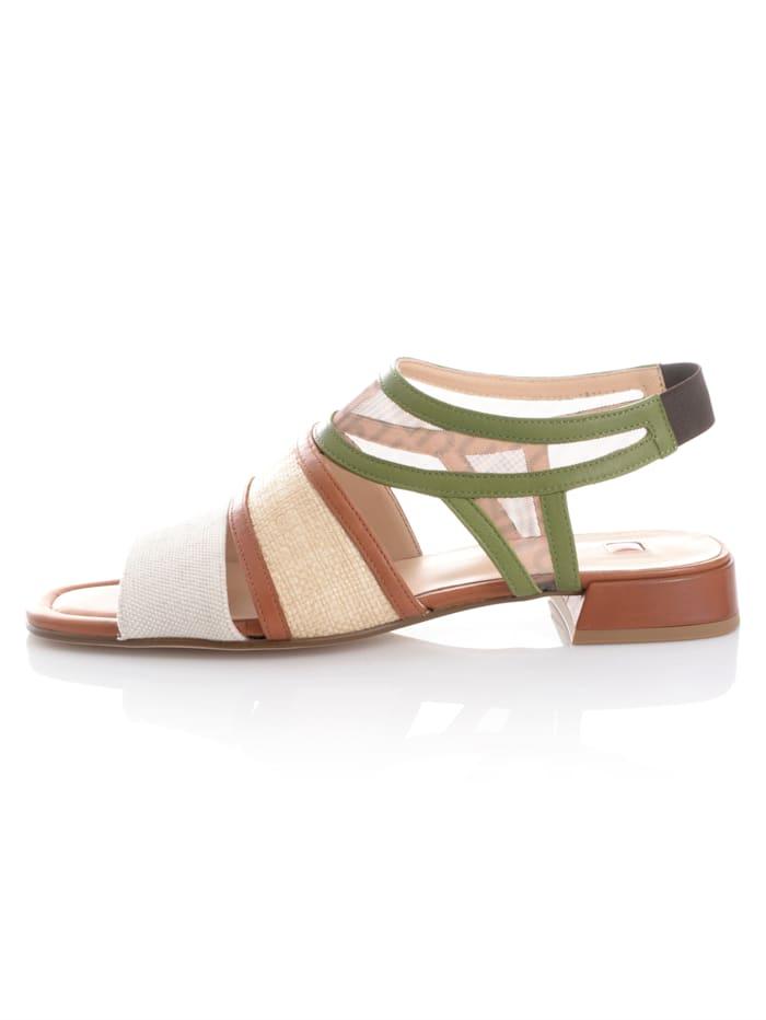 Sandalette im Materialmix