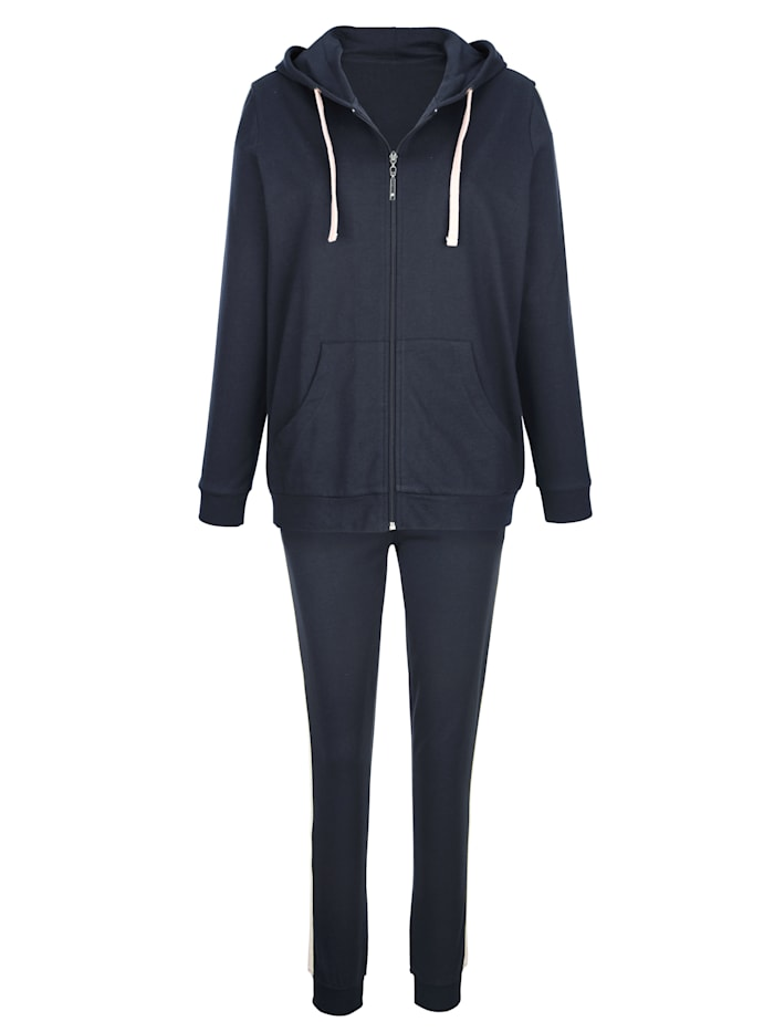 Blue Moon Loungewear set with stylish glitter detailing Set, Navy/Light Pink