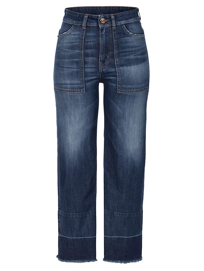 MY TWIN TWINSET Bootcut-Jeans, Blau