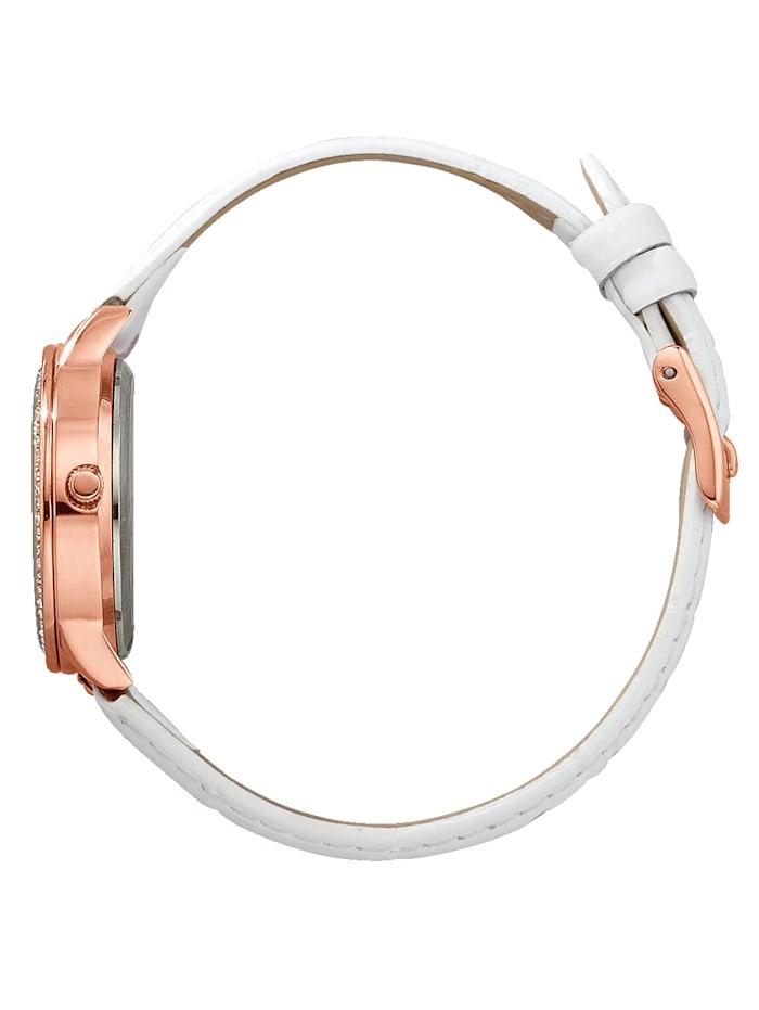 Parure montre et bijou 2 pièces, coloris rose