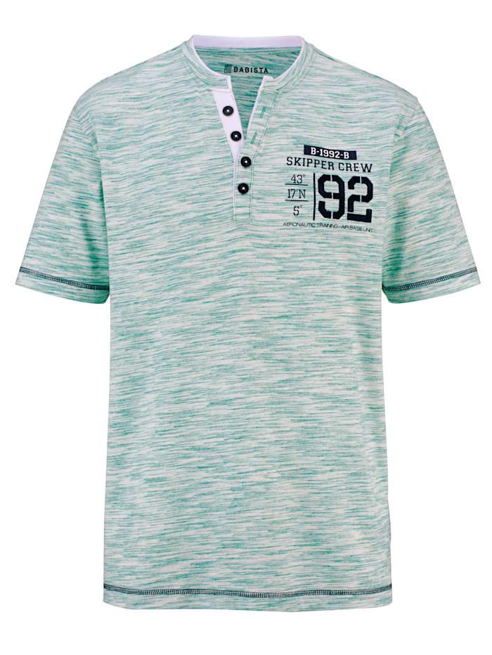 BABISTA Shirt met hals in dubbele look, Groen