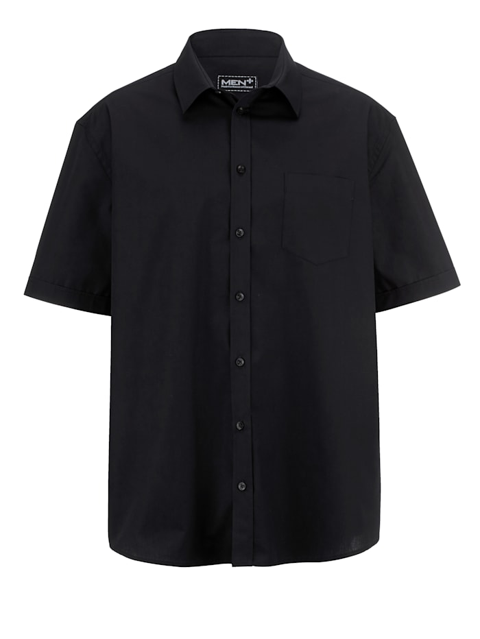 Men Plus Overhemd in klassiek model, Zwart