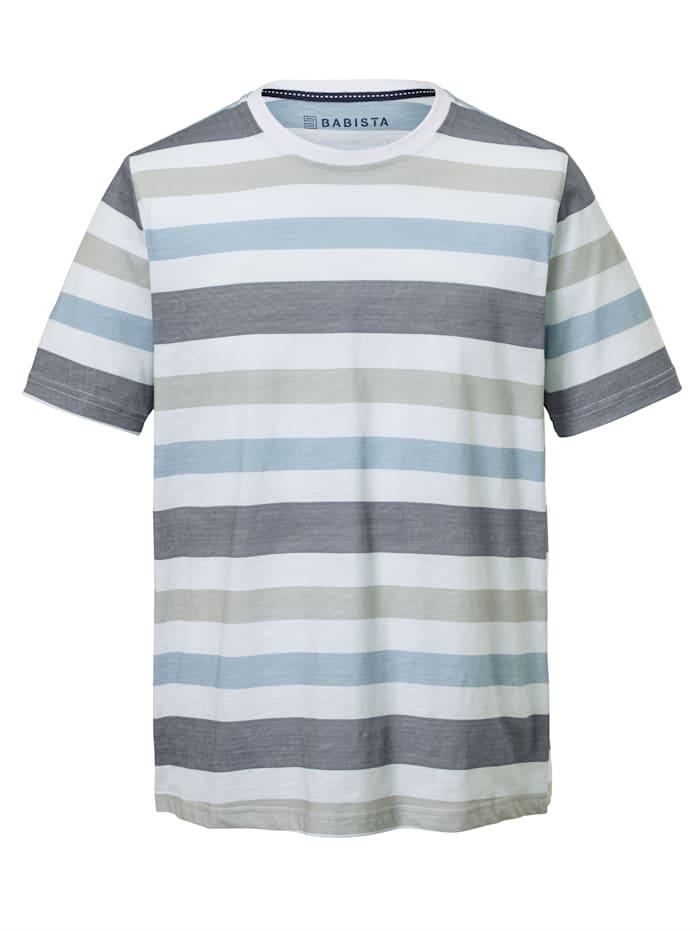 T-Shirt mit bedrucktem Streifendessin