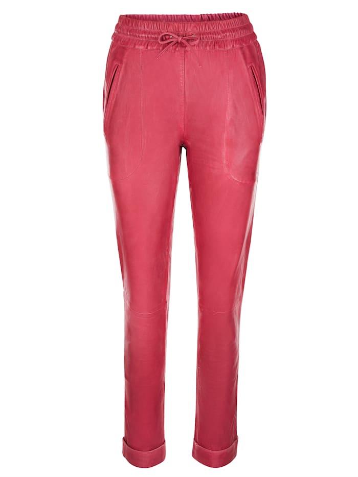 AMY VERMONT Lederhose mit Gummibund, Pink