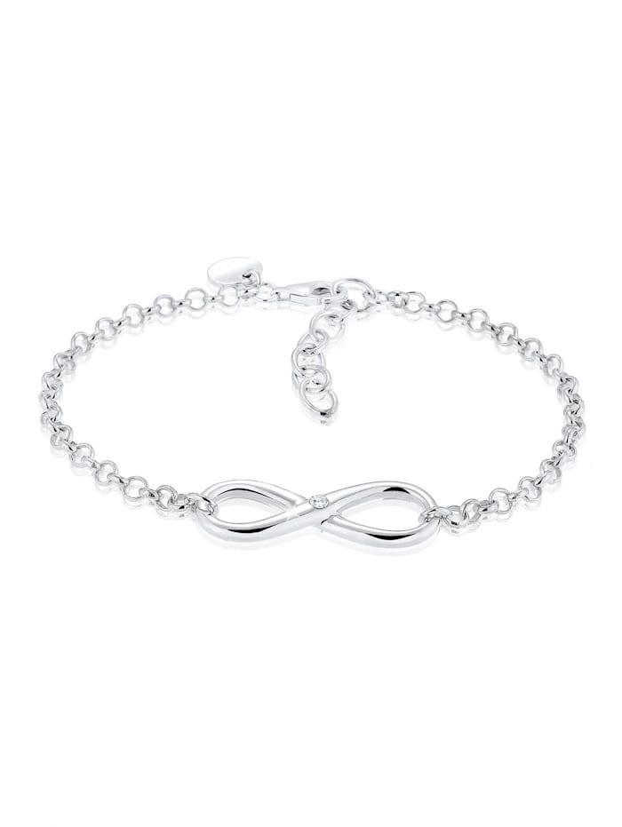Elli Armband Infinity Zirkonia 925 Sterling Silber, Silber