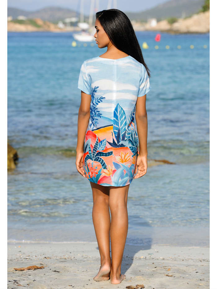 Strandkleid mit sommerlichem Druck