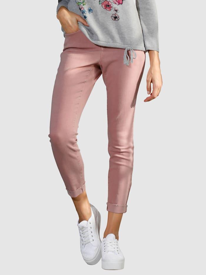 NYDJ 7/8 Jeans mit gefranstem Aufschlag, Rosé