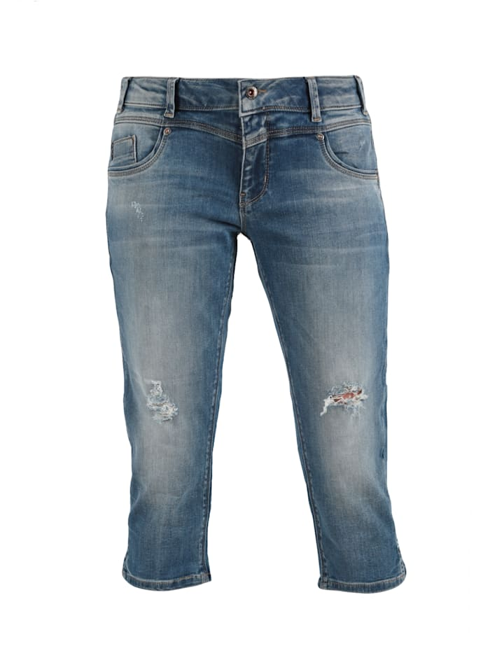 Miracle of Denim Capri Hose Jeans, Chicago Blue
