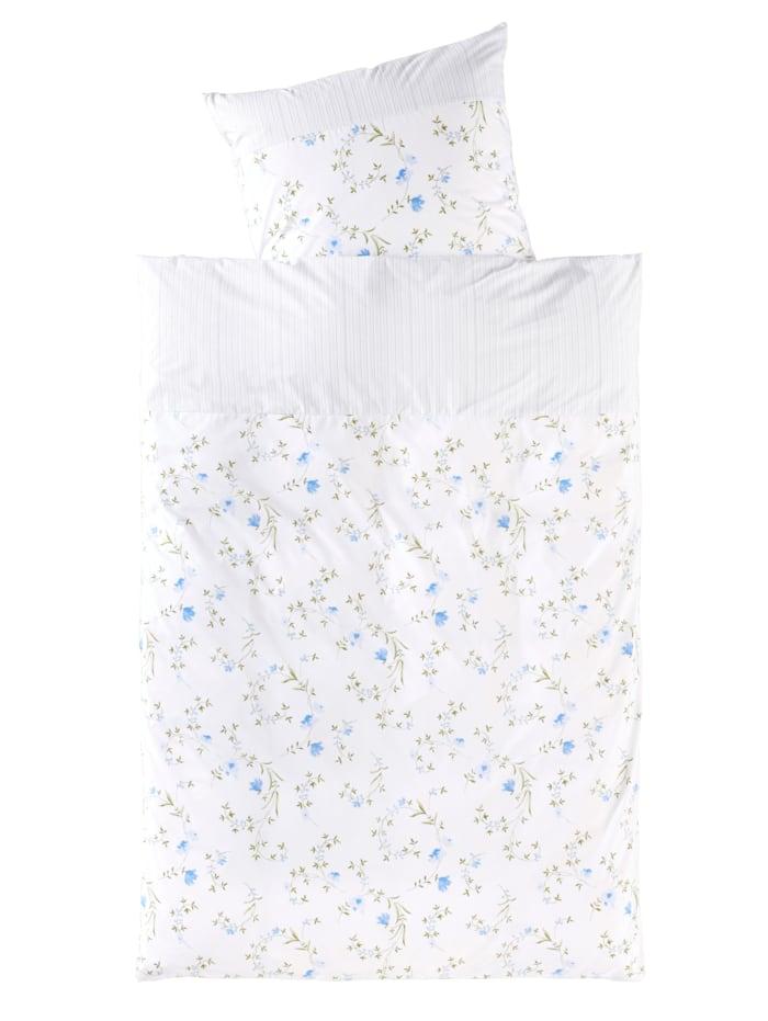 Webschatz Parure de lit Mia en renforcé, Blanc/bleu