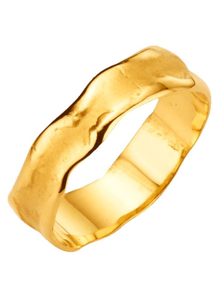 KLiNGEL Partnerring satiniert, Gelbgoldfarben